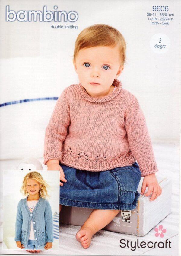 Stylecraft Bambino knitting pattern 9606