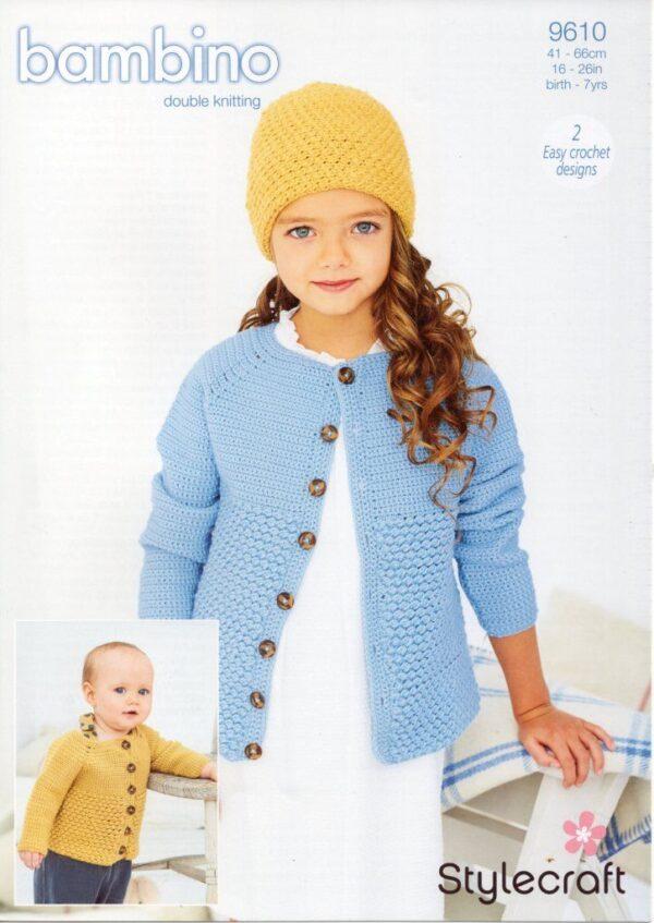 Stylecraft Bambino Crochet pattern 9610