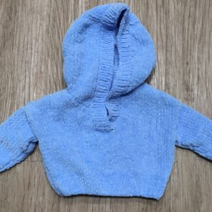 James C Brett Flutterby 4 Ply, garment photo, baby hoodie