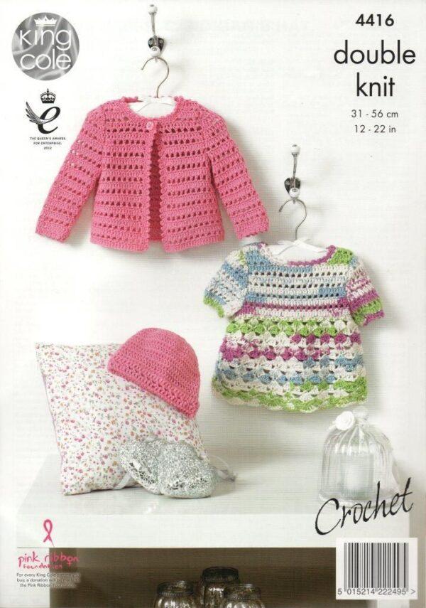 King Cole crochet pattern 4416