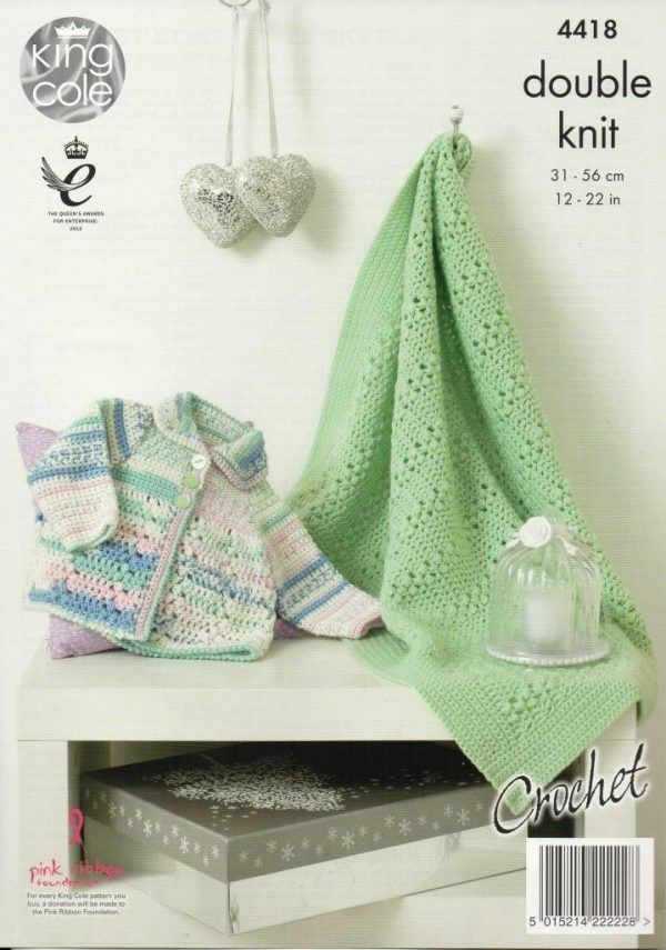 King Cole Cherish crochet pattern 4418