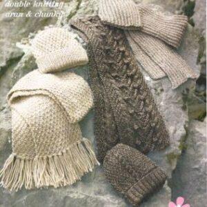 Stylecraft DK, Aran and Chunky yarn knitting pattern 8287