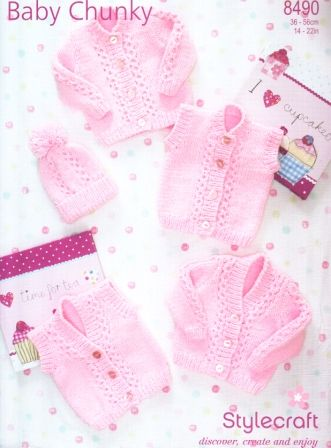 Stylecraft Baby Chunky yarn knitting pattern 8490