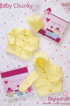 Stylecraft Baby Chunky yarn knitting pattern 8491
