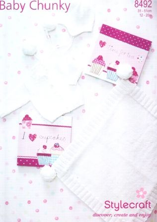 Stylecraft Baby Chunky yarn knitting pattern 8492
