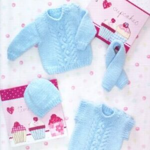 Stylecraft Baby Chunky yarn knitting pattern 8493