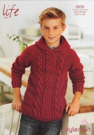 Stylecraft Life Aran yarn knitting pattern 8936