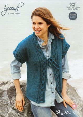 Stylecraft Special with Wool yarn knitting pattern 9021