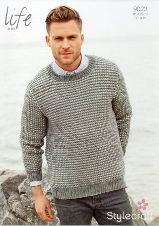 Stylecraft Life Aran yarn knitting pattern 9023