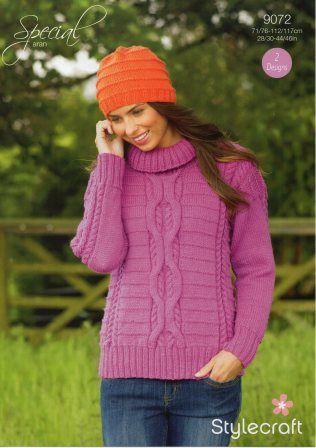 Stylecraft Life Chunky yarn knitting pattern 9072