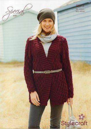 Stylecraft Life Chunky yarn knitting pattern 9073