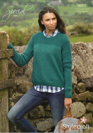 Stylecraft Life Chunky yarn knitting pattern 9074