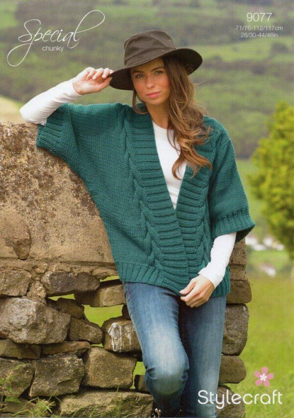 Stylecraft Special Chunky yarn knitting pattern 9077
