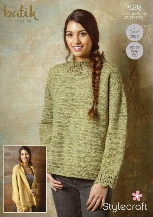 Stylecraft Batik knitting pattern 9293