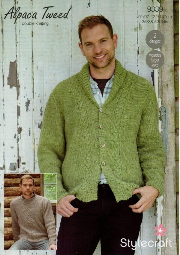 Stylecraft Alpaca Tweed DK knitting pattern 9339