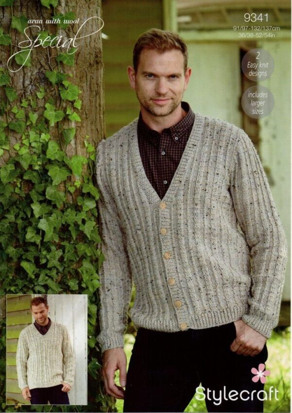 Stylecraft Special with Wool yarn knitting pattern 9341