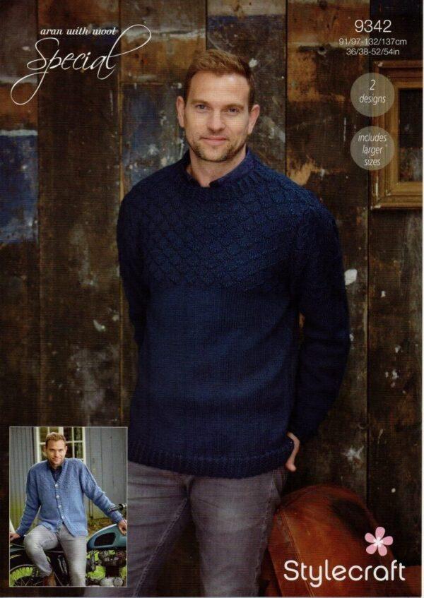 Stylecraft Special with Wool yarn knitting pattern 9342