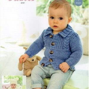 Stylecraft Special Baby Aran yarn knitting pattern 9345