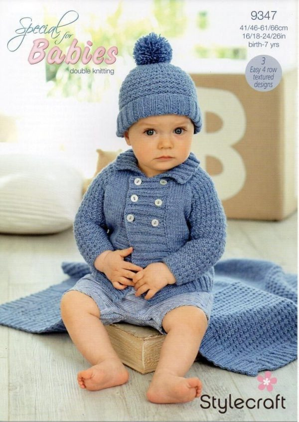 Stylecraft Special Baby DK yarn knitting pattern 9347