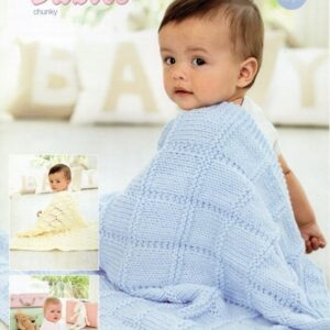 Stylecraft Special Baby Chunky yarn knitting pattern 9348
