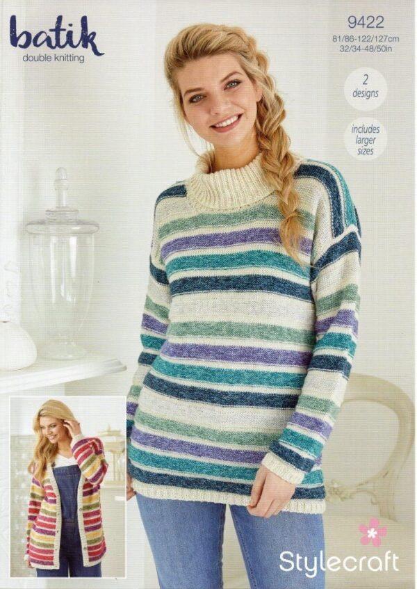 Stylecraft Batik knitting pattern 9422