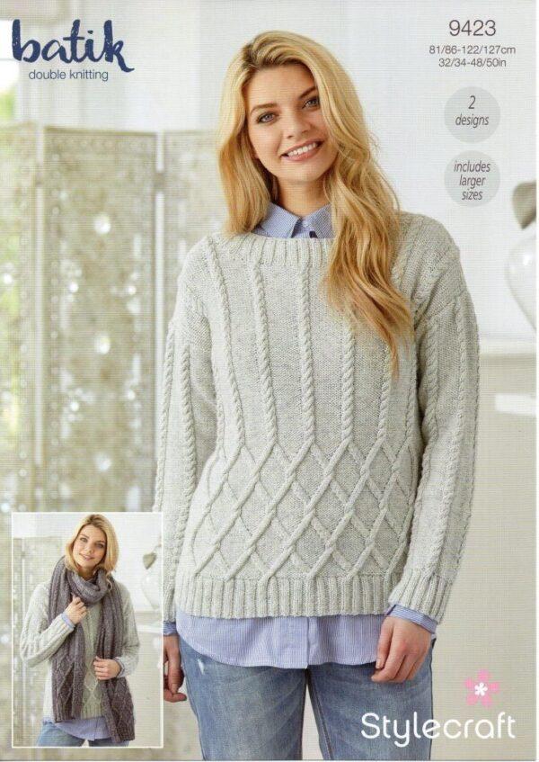Stylecraft Batik knitting pattern 9423