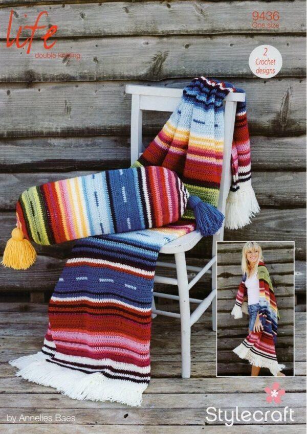Stylecraft Life DK yarn crochet pattern 9436