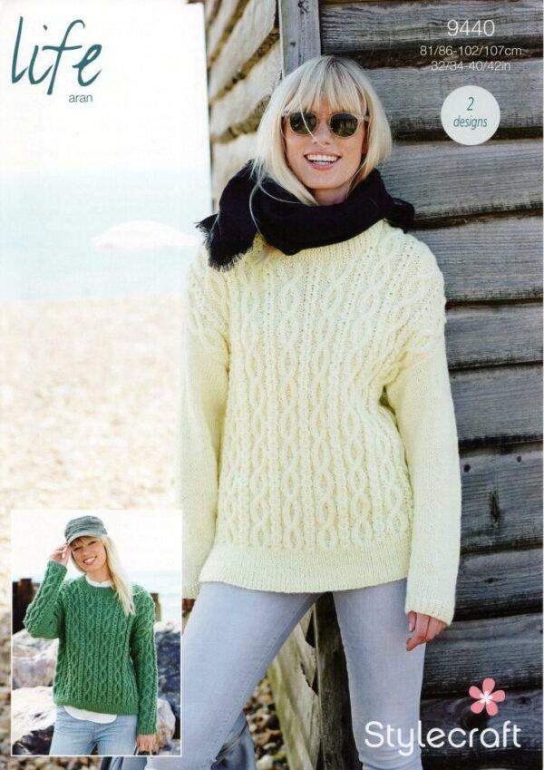 Stylecraft Special Chunky yarn knitting pattern 9440