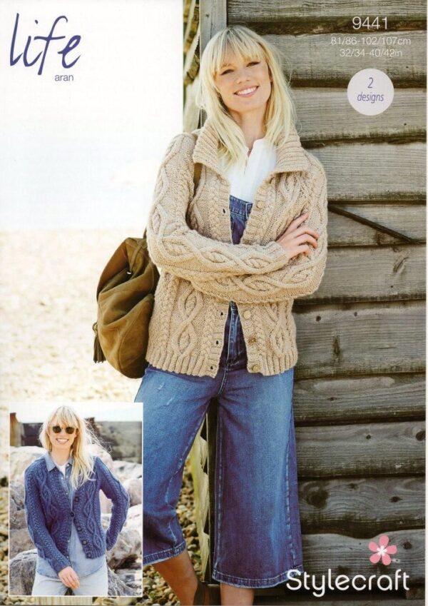 Stylecraft Special Chunky yarn knitting pattern 9441