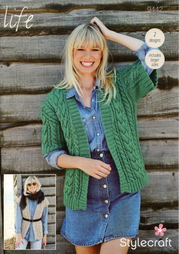 Stylecraft Special Chunky yarn knitting pattern 9442
