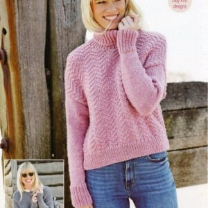 Stylecraft Life Chunky yarn knitting pattern 9445