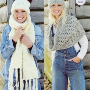 Stylecraft Life super chunky yarn knitting pattern 9447