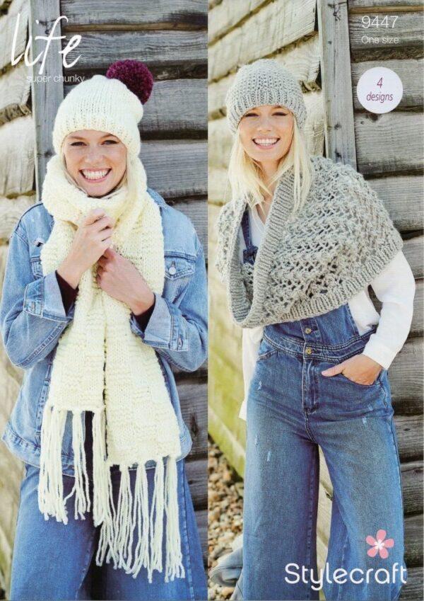 Stylecraft Life super chunky yarn knitting pattern 9447