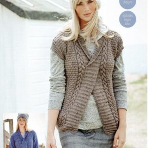 Stylecraft Alpaca Tweed DK knitting pattern 9451