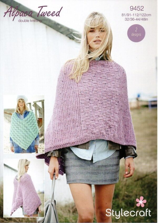 Stylecraft Alpaca Tweed DK knitting pattern 9452