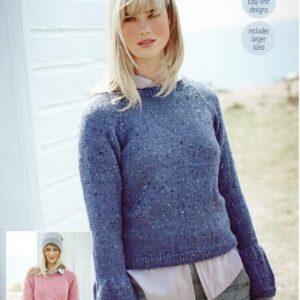 Stylecraft Alpaca Tweed DK knitting pattern 9453