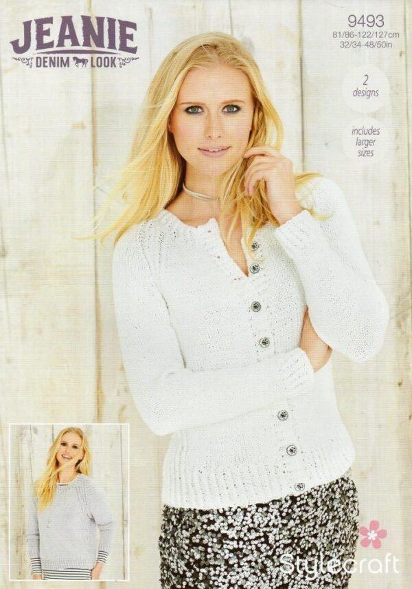Stylecraft Jeanie Aran-weight yarn knitting pattern 9493