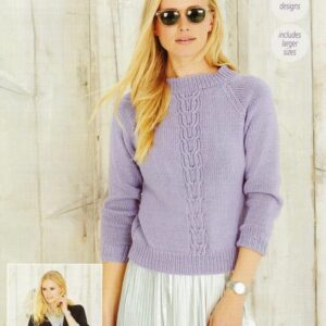 Stylecraft Jeanie Aran-weight yarn knitting pattern 9495
