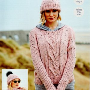 Stylecraft Special with Wool yarn knitting pattern 9555