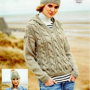Stylecraft Special with Wool yarn knitting pattern 9556