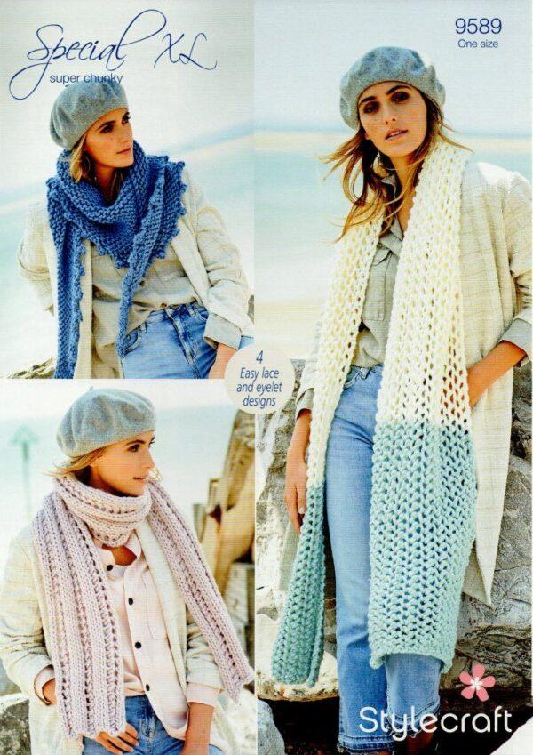 Stylecraft Special XL super chunky yarn knitting pattern 9589