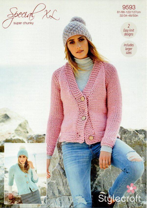 Stylecraft Special XL super chunky yarn knitting pattern 9593