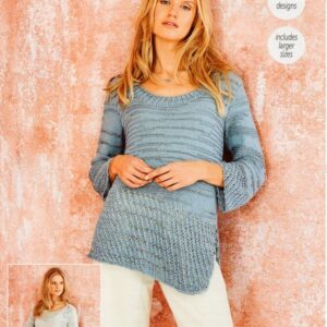 Stylecraft Moonbeam DK knitting pattern 9626