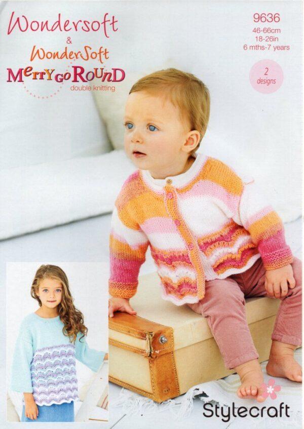 Stylecraft Wondersoft & Merry Go Round 9636