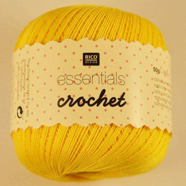 Rico Essentials Crochet Mercerised Crochet Cotton Yarn