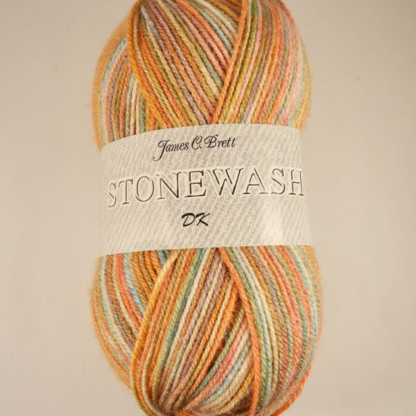 James C Brett Stonewash DK colour-mix yarn