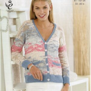 King Cole knitting pattern 4471 for Opium yarn