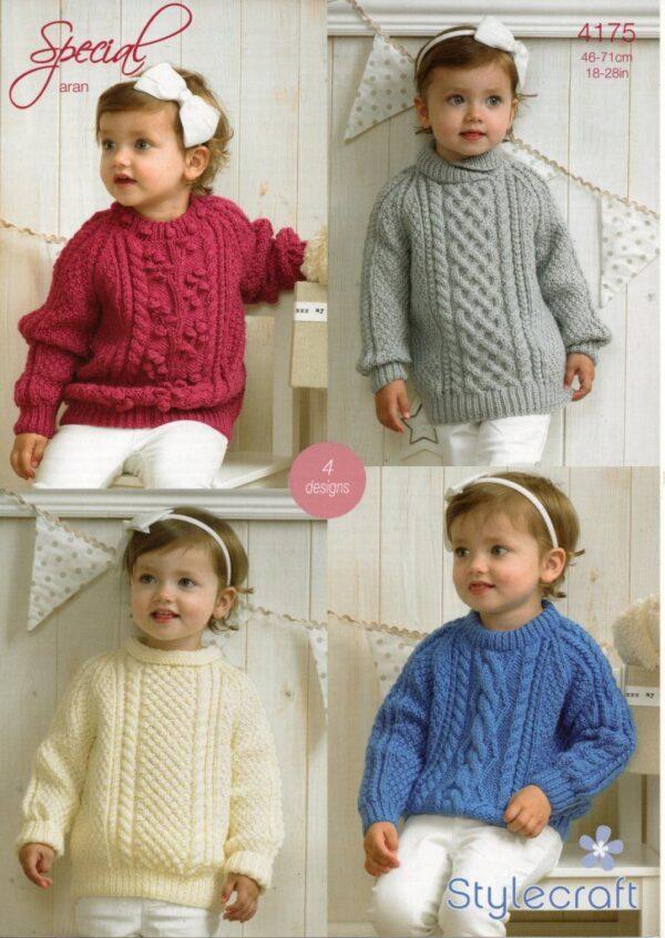 Stylecraft Special Aran yarn knitting pattern 4175