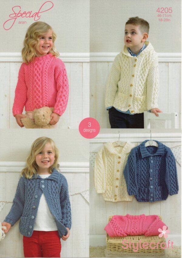 Stylecraft Special Aran yarn knitting pattern 4205