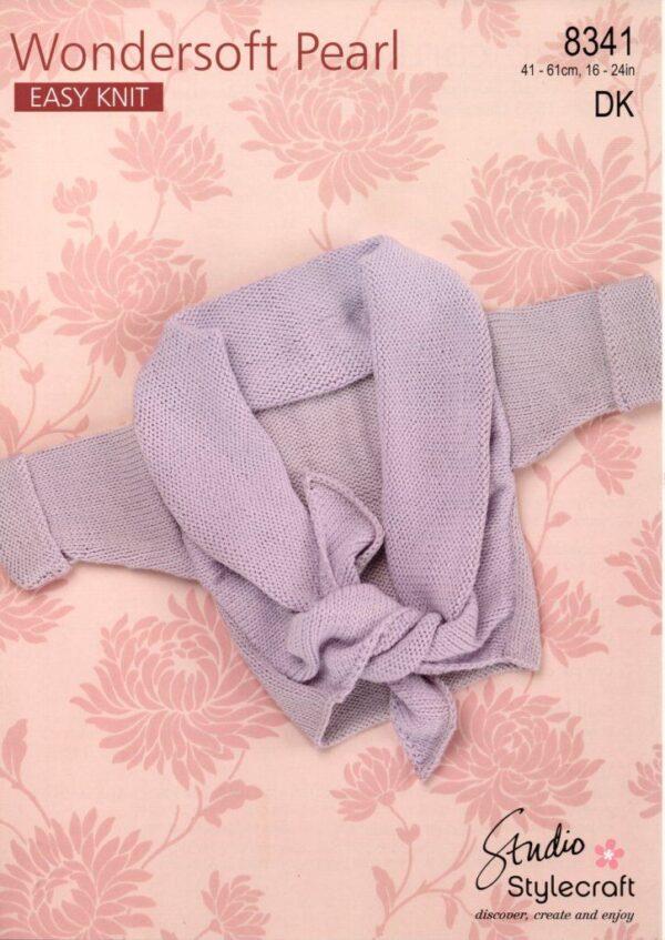 Stylecraft Wondersoft Pearl DK knitting pattern 8341